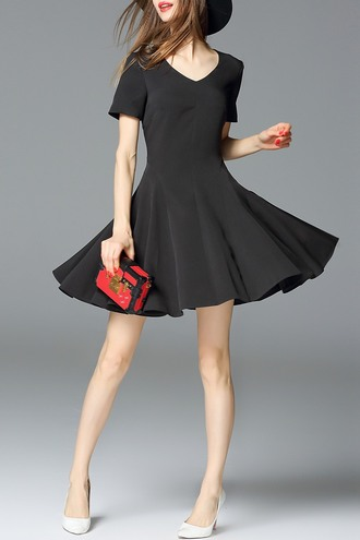 dress dezzal black dress skater dress trendy fashion hat stylish formal girl