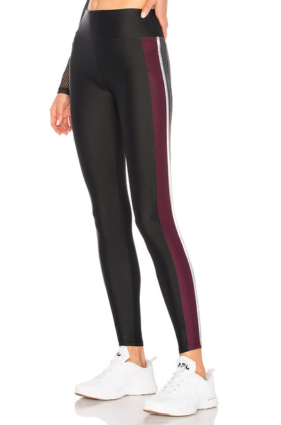 Lanston colorblock black pants