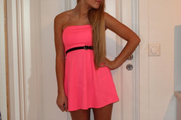 girl dress neon summer