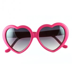Womens Heart Shaped Sunglasses | Pink Retro Sunglasses