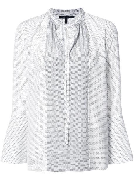 DEREK LAM blouse women white silk top