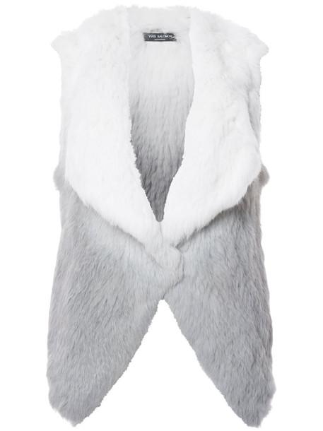 Yves Salomon vest fur vest fur women grey jacket