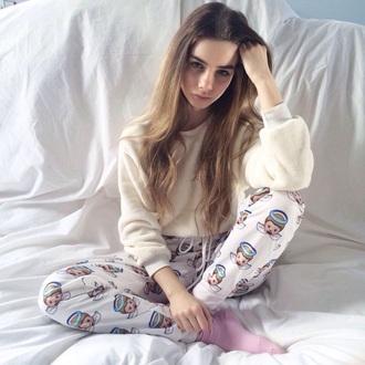 sweater joanna kuchta pants phone cover pajamas angel tumblr cool emoji trousers emoji pants hair accessory hat