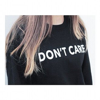 sweater hoodie black crewneck quote on it kfashion korean fashion