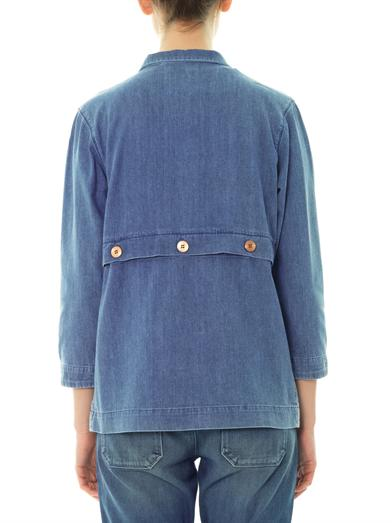 Denim patchwork parka | MiH Jeans | MATCHESFASHION.COM