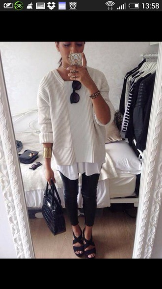cardigan knitted cardigan white cardigan top shoes