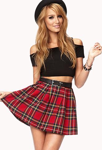 Cool Girl Plaid Skirt   FOREVER21 - 2000111347
