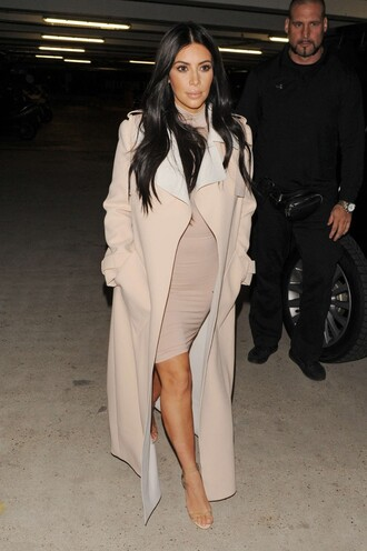 dress nude nude dress kim kardashian sandals coat bodycon dress bodycon turtleneck