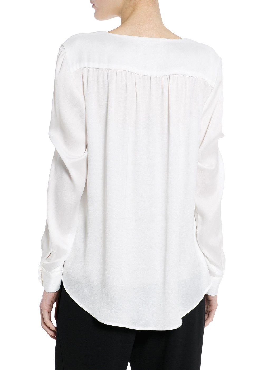 V-neckline blouse -  							Blouses and shirts - 							Women - 							MANGO