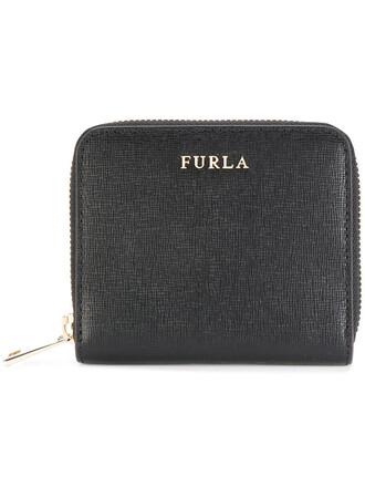 zip women purse leather black bag