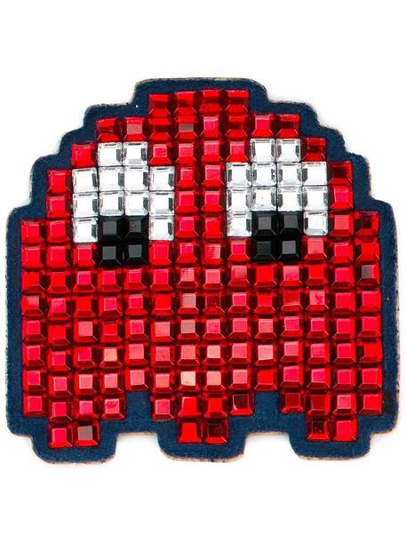 Anya Hindmarch space bag suede red
