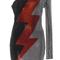 One shoulder lightning dress | moda operandi