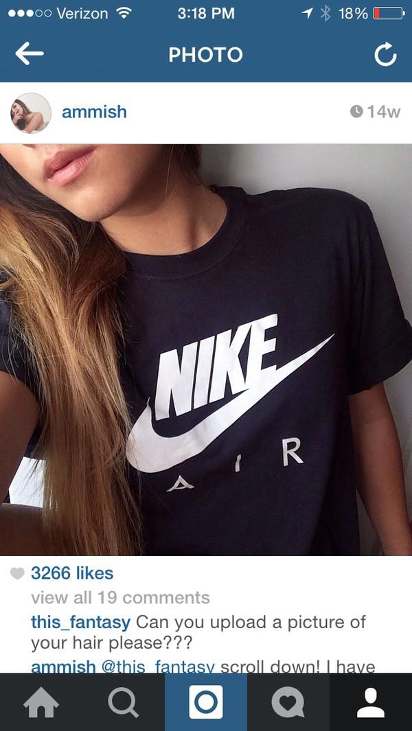 t-shirt nike shirt black black top workout sportswear black t-shirt nike air pinterest nike air force
