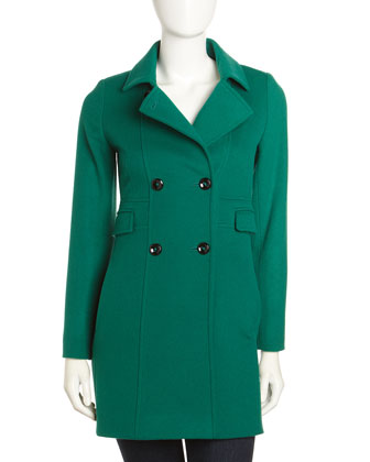 Cinzia Rocca Four-Pocket Coat, Green - Neiman Marcus Last Call