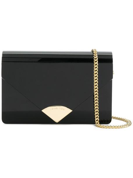 MICHAEL Michael Kors envelope clutch women clutch leather black bag