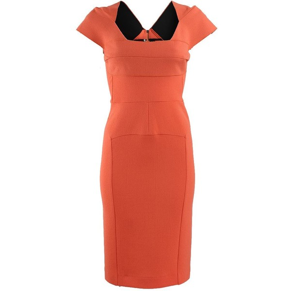 Roland Mouret Cap Sleeved Seamed India Dress