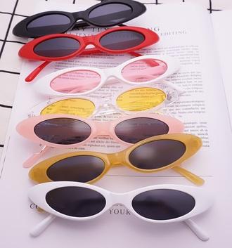 sunglasses vintage tumblr black red white