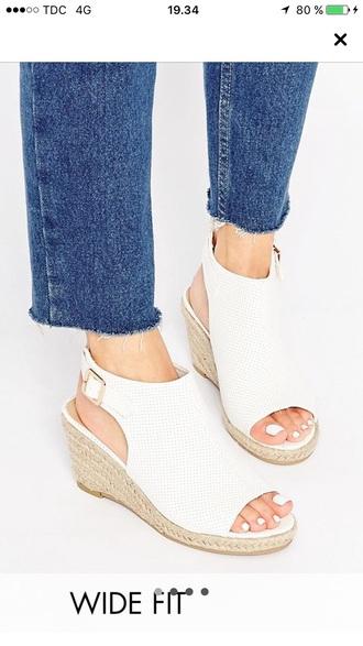shoes white summer boho