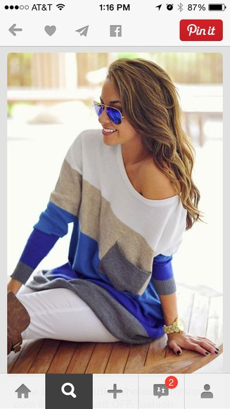 sweater winter sweater oversized sweater stripes
