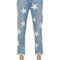 Skinny boyfriend stars print denim jeans