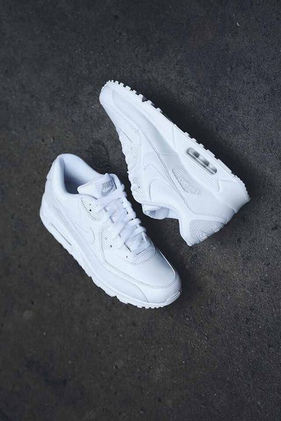 d70c858ba060 shoes nike air max tumblr white urban street mens shoes white sneakers low  top sneakers air