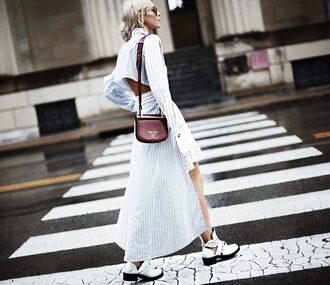 happily grey blogger dress shoes bag fall outfits shoulder bag booties prada bag