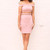 Cut Out Off The Shoulder Bardot Bodycon Mini Dress in Dusky Pink