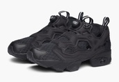 shoes,sneakers,Reebok,reebok classic,all black everything,black