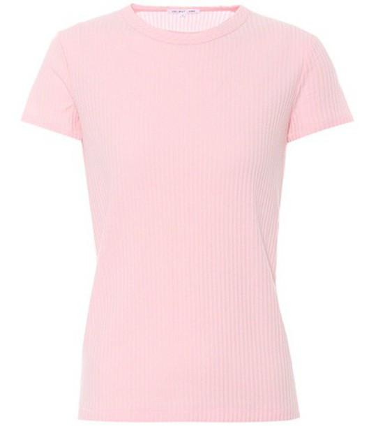 Helmut Lang t-shirt shirt cotton t-shirt t-shirt cotton pink top