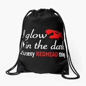 bag,redhead,red hair band,sexy,women,red