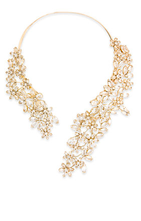 Stone Floral Necklace | BCBG