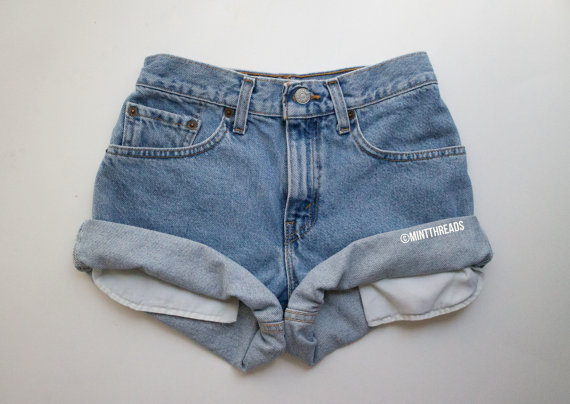 All sizes vintage helios high waisted denim shorts by mintthreads