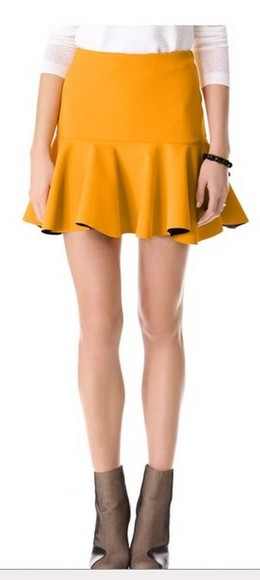 skirt yellow skirt yellow shirt