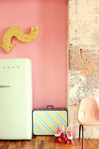 keiko lynn blogger suitcase stripes home decor vintage girly hipster pastel vintage home decor vintage decor