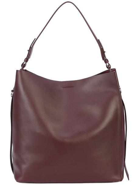 All Saints women leather brown bag