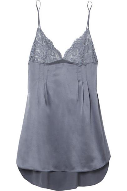 Stella McCartney lace silk satin charcoal underwear