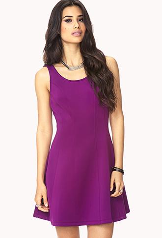 Sleek Scuba Knit Skater Dress | FOREVER21 - 2000129815