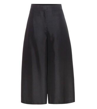 culottes silk black pants