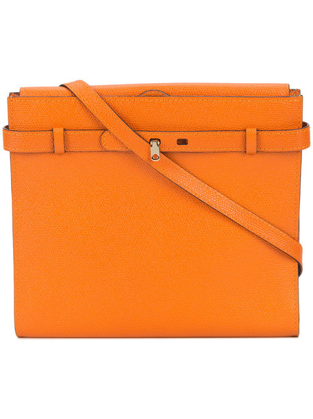 Valextra women bag crossbody bag leather yellow orange