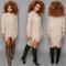 Fashion round neck long-sleeved dress