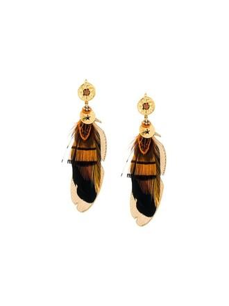women earrings brown jewels