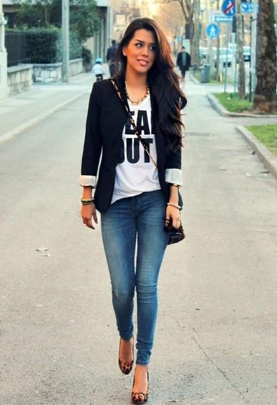 t-shirt jacket jeans