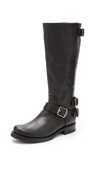 back zip boots black shoes