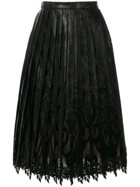 Marco De Vincenzo skirt midi skirt pleated women midi black