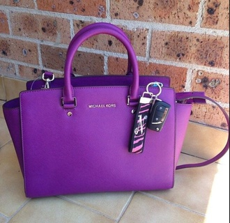 bag purple bag michael kors royal purple