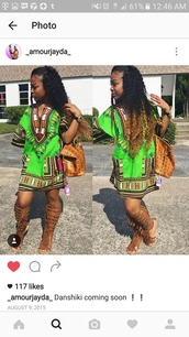 dress,dashiki dresses,dashiki,african print,african dresses,fringe sandals,fringes,mcm bag