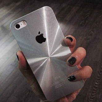 phone cover iphone 4 case iphone 5 case iphone 6 case iphone nail polish black color quote on it on the reflection reflect stripes middle centre center shape apple phone cellphone case silver grey grey color black signature signs sign symbol weheartit tumblr where to get it? :)