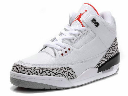 Fashion Nike Air Jordan 3 Retro White Cement Grey Fire Red sale