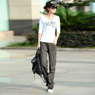 Girl Khaki Cargo Pants - Shop for Girl Khaki Cargo Pants on Wheretoget