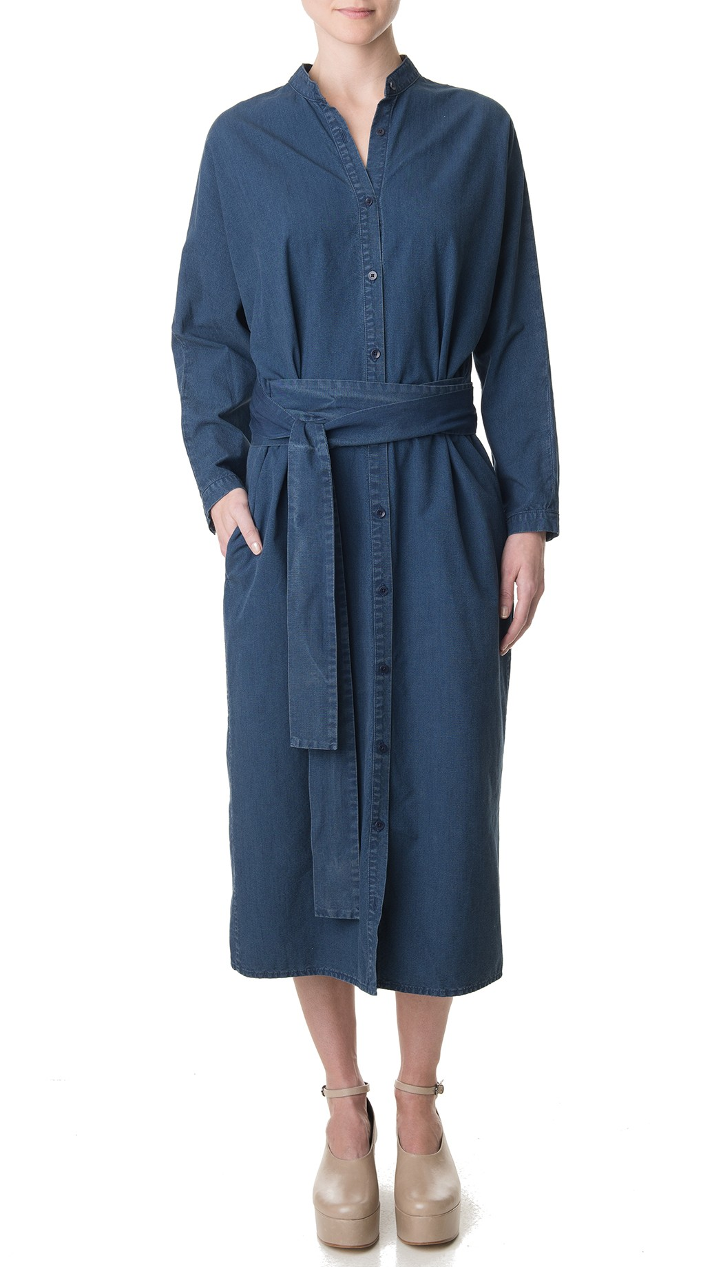 Tibi Lightweight Denim Shirt Dress